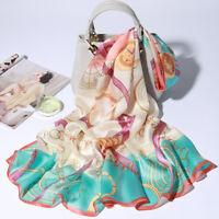 "71*26"" 100% Pure Silk Long Scarf Fashion Nature Real Silk Shawl Mixed Color"