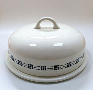 Große Tortenplatte mit Haube, Ditmar Urbach, Jugendstil Art Deco