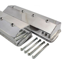 SBC Chevy Fabricated Aluminum Valve Covers Center Bolt Vortec 305 5.0L 350 5.7L
