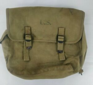 Original WW2 WWII US Army M1936 Musette Field Jump Bag Stamped 1941