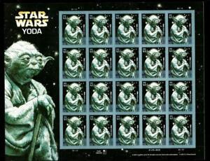 1¢ WONDER'S ~ 2007 MNH SOUVENIR SHEET W/ 41¢ STAR WARS YODA (FV = $8.20) ~ S32