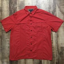 EXOFFICIO Men's Nylon Blend Fishing Outdoor Shirt Short Sleeve Sz XXL EUC H