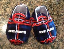 Baby Boy Or Girl Unisex Chicago Bears Booties, Blue Orange Plaid