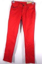 Aeropostale 28/32 Bowery Slim Jeans Straight Legs Juniors Red Stretch Denim Pant