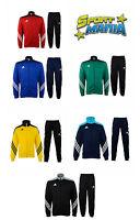 Adidas Sere 14 Pes Suit Tuta Acetato Uomo Bambino Blu Rosso Giallo Verde
