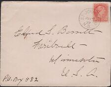 CANADA  St. John, NB 1897 on 3c SQ to USA