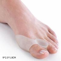 2 Silicone Gel Toe Straightener Separator Bunion Corrector Protector Pain Relief
