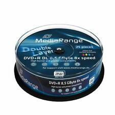 25 DVD+R Doble Capa MediaRange Printables Double Layer DL NUEVOS 10 20 30 50 100