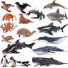 Ocean Animal Zoo Shark Whale Fsih Turtle Octopus Figure Collector Toy Model Gift