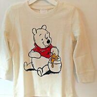 Marks /& Spencer Disney Winnie the Pooh Ivory Color short sleeve bodysuit 3pc set