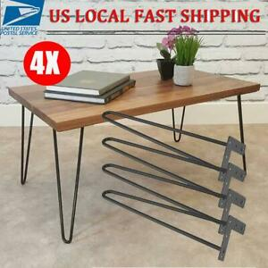 "4PCS 16"" Hairpin Table Folding Legs DIY Metal Desk Legs Home Furniture Parts"