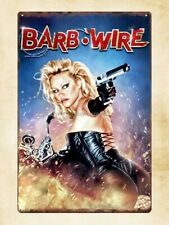 wall art stores Barb Wire sci fi movie film Pamela Anderson metal tin sign