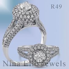 1.85CT ROUND ANTIQUE DIAMOND ENGAGEMENT RING MICROPAVE R49