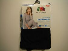 NWT FRUIT OF THE LOOM WOMEN'S SMALL S 4-6 BLACK THERMAL WEAR PANTS THERMALWEAR