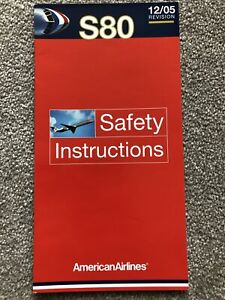 American Airlines McDonnell Douglas S80 Series Safety Card 12/05 Revision