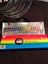 vintage NIJI Water Color Paint  Watercolor 18 Colors NEW UNUSED RWC18