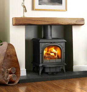 SOLID OAK FIREPLACE MANTEL BEAM MANTELPIECE Wood Lintel Log Burner Mantle Shelf
