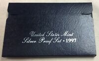 1997-S US MINT SILVER PROOF SET - Complete w/ Original Box and COA