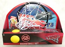 Disney Cars 3 Basketball Hoop Game McQueen Jackson Storm Toy Ball New