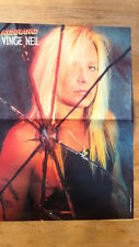 MOTLEY CRUE Vinced cracked Centerfold magazine POSTER  17x11 inches