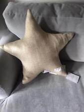 "POTTERY BARN EMILY & MERITT Liquid Gold Star Knit PILLOW 16"" Holiday Christmas"