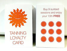 50 SALON SUNBED TANNING LOYALTY CUSTOMER CLIENT CARDS CREDIT CARD SIZE