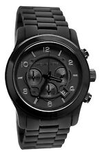 Michael Kors Black Mens Gents Chronograph Runway Oversized Watch MK8157 RRP £259