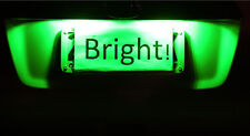 Ford BA BF Falcon FPV XR6 XR8 Typhoon GT GT-P UTE Green LED Number Plate
