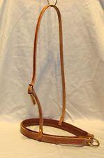 Roper noseband western Usa halter bolts tan liner custom cowboy tack Usa H916