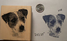 """Jack russell terrier dog  NEW Rubber Stamp WM 2.3x2.3"""" P28"""