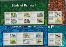 ROYAL MAIL 2010-2011 POST & GO STAMPS - BIRDS OF BRITAIN I, II, III, IV PACKS.