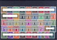 DR Dienstmarken 132-43, 144-54, 155-65, 166-77 postfrisch komplett (ct117)