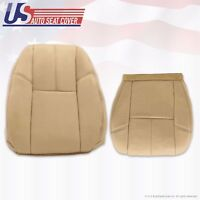 Driver Side Bottom PERFORATED Leather Seat Cover Tan 2009 Chevy Avalanche LTZ