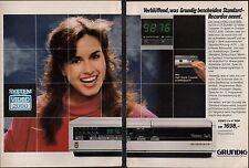 3w1012/vecchia pubblicità con loghi di 1984-GRUNDIG VIDEO RECORDER