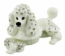 POODLE Puppy Dog TRINKET BOX, Collectable Dog Ornament KEEPSAKE Trinket