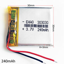 3.7V 240mAh Battery 303030 Lipo Polymer Rechargeable For GPS MP3 MID DVD camera