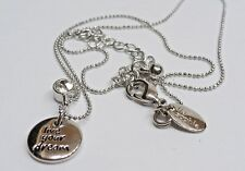 """Charm Necklace on Adjustable Chain A6) Lia Sophia """"Live Your Dream"""""""