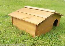 More details for wooden hedgehog house wood hedge hog hibernation home shelter nest box