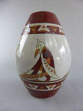 VASE STYLE ART DECO EMAUX OISEAUX AZTEC QUETZAL QUETZALCOATL MEXICAN BIRD 509-1