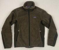 patagonia women's synchilla retro-x fleece espresso brown jacket sz small 23071