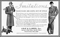 1933 Gray & Lampel sporting mufti tailors nyc vintage photo print ad adL63