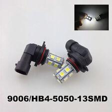 2* Hight Power 5050 13-SMD LED FOG LIGHT DRL 9006 HB4 6000K Xenon White Bulbs D-