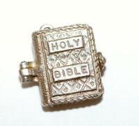 Holy Bible Opening To Wedding Vows And Prayer Sterling Silver Vintage Charm