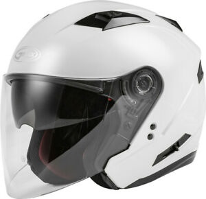 Gmax OF-77 Open-Face 2021 Helmet Pearl White