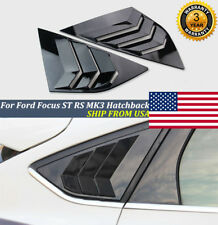 Pair For Ford Focus St Rs Mk3 Hatchback Glossy Black Window Side Louvers Vent Us (Fits: Ford Focus)