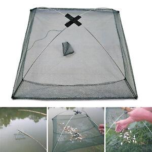 60cm Folded Fishing Net Small Fish Shrimp Minnow Crab Baits Cast Mesh Cage Trap