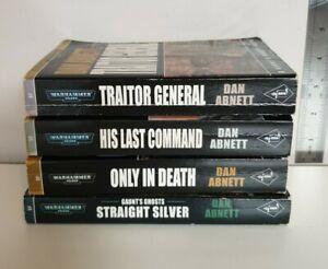 A Gaunts Ghost Novel x4 Black Library Publication (Games Workshop) Dan Abnett