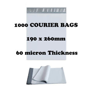 1000 Poly Mailer 190x260mm Premium Courier Bags Self Sealing Mailing Satchel