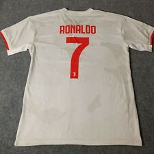 Adidas Juventus RONALDO Soccer Jersey RARE Adult Large White Good Condition