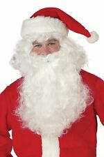 2 Piece Set Costumes Men's Santa Claus Beard and Wig Hair WHITE 1 Size Christmas